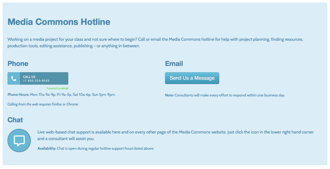 Hotline Options