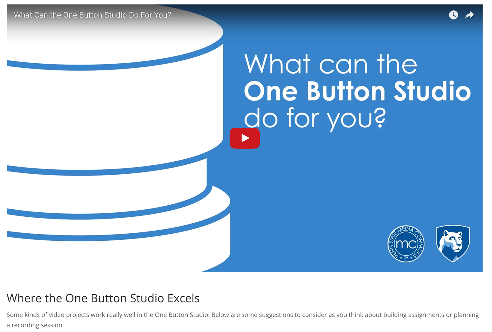 One Button Studio Guide