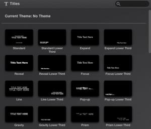 Imovie titles