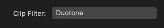 Clip filter button
