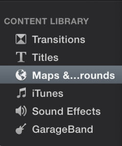 Content library maps and backgrounds