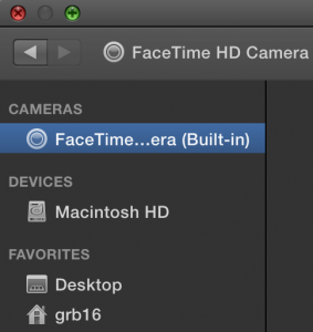 Facetime camera built-in
