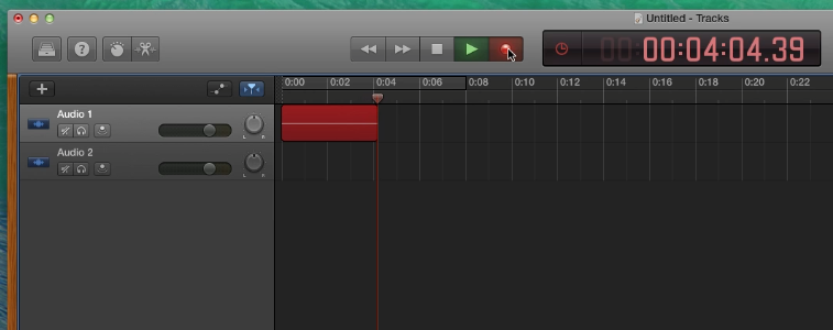 Red bar with waveforms