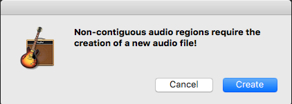 Non-contiguous audio message