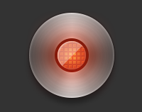Glowing red record button