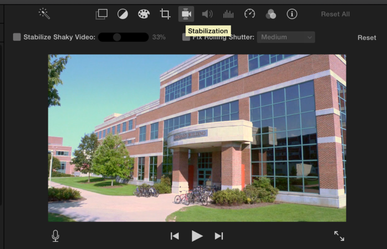 Stabilizing Footage in iMovie | Media Commons