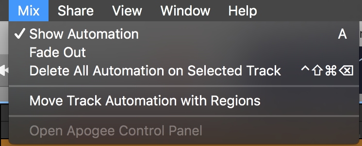 Show/hide automation button