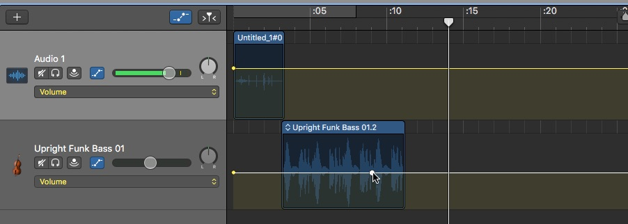 Fades, Volume Adjustment, Music, and Sound Effects in GarageBand