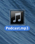 Podcast icon on desktop