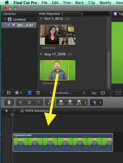 Final Cut Pro Using Green Screen Footage Media Commons