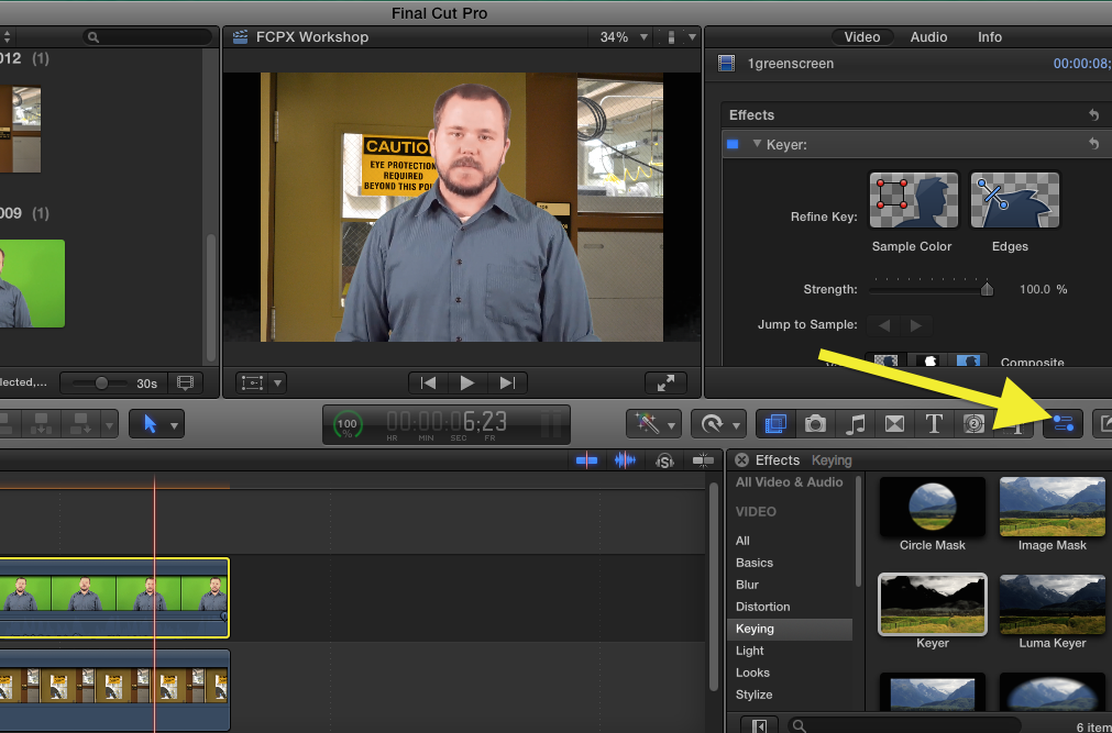 Final Cut Pro: Using Green Screen Footage | Media Commons