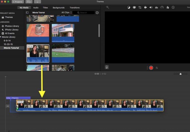 Using Themes in iMovie | Media Commons