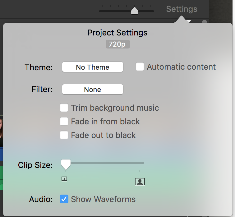 how to change theme in imovie