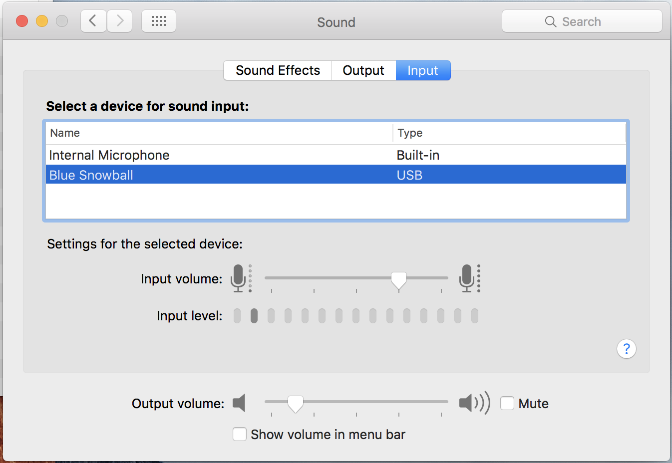 Audio media setup for earphone with microphone macbook pro