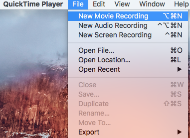 Quicktime New Recording