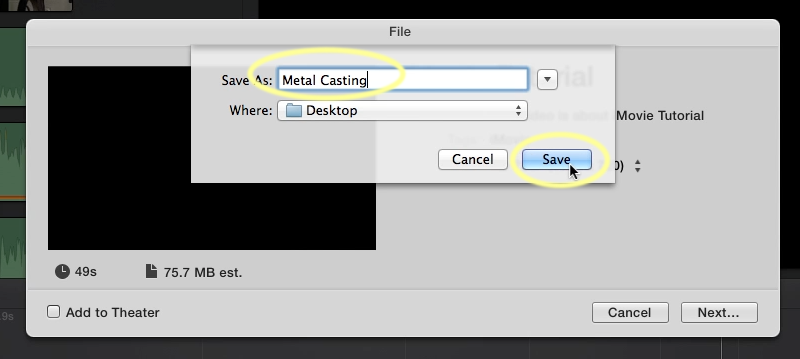 Exporting Your Video From iMovie | Media Commons
