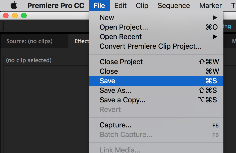 Saving and Exporting Your Project in Premiere | Media Commons