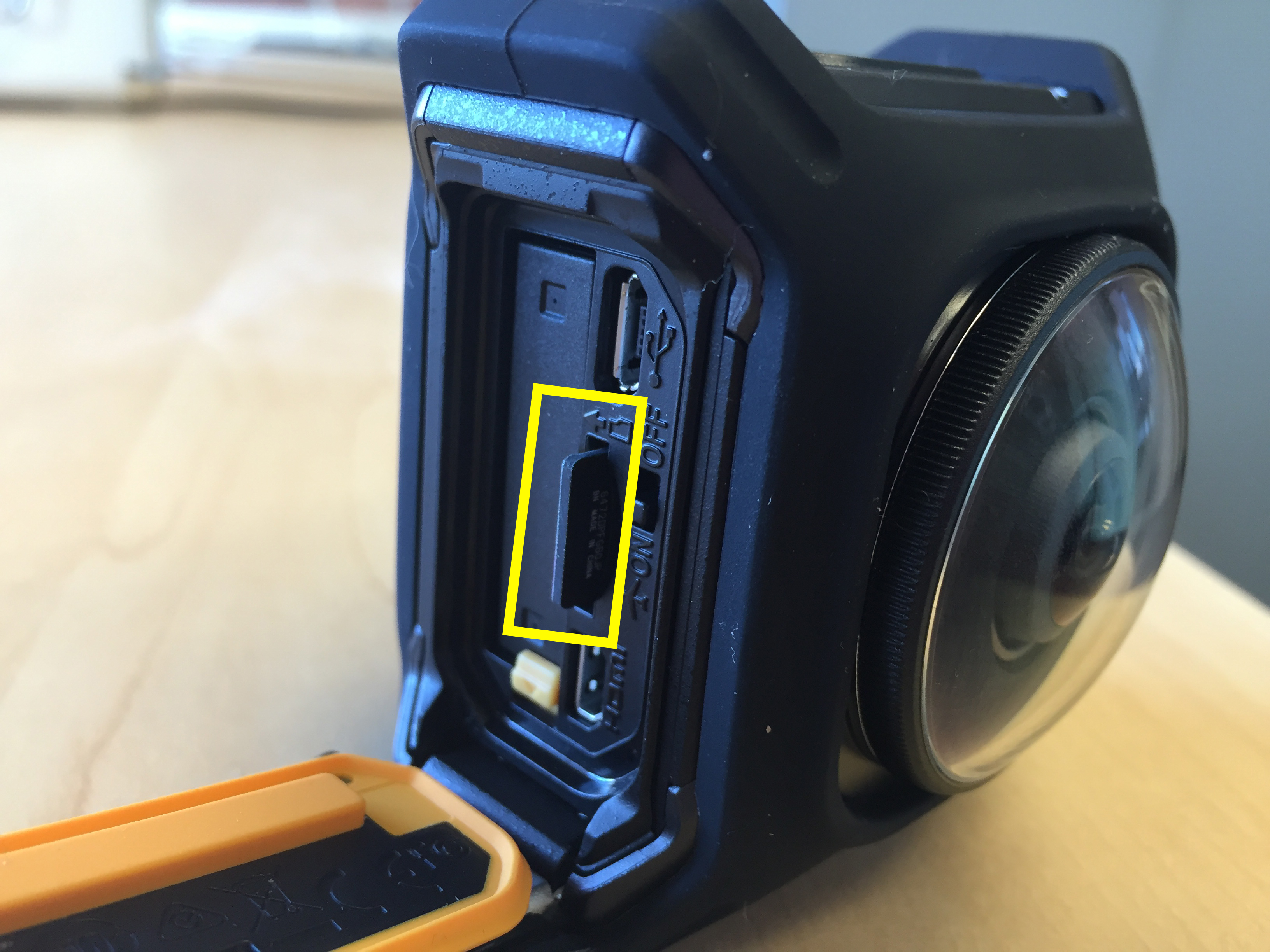 Removing the SD Card in the Nikon KeyMission 360 | Media Commons