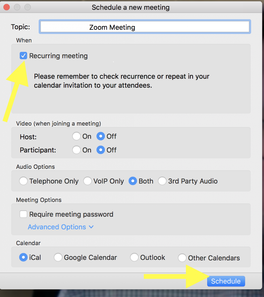 Setting up a Recurring Zoom Audio Interview Meeting | Media Commons