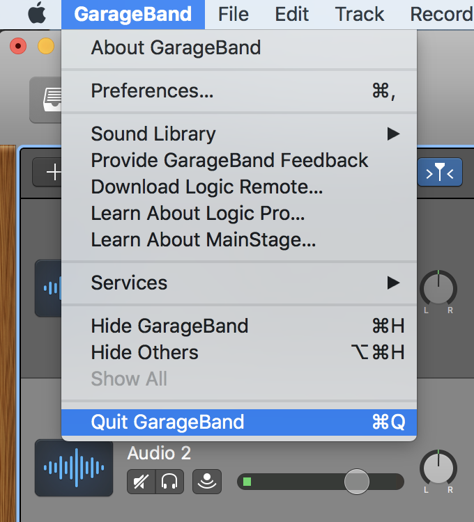 Backing Up / Restoring Your GarageBand Project to External