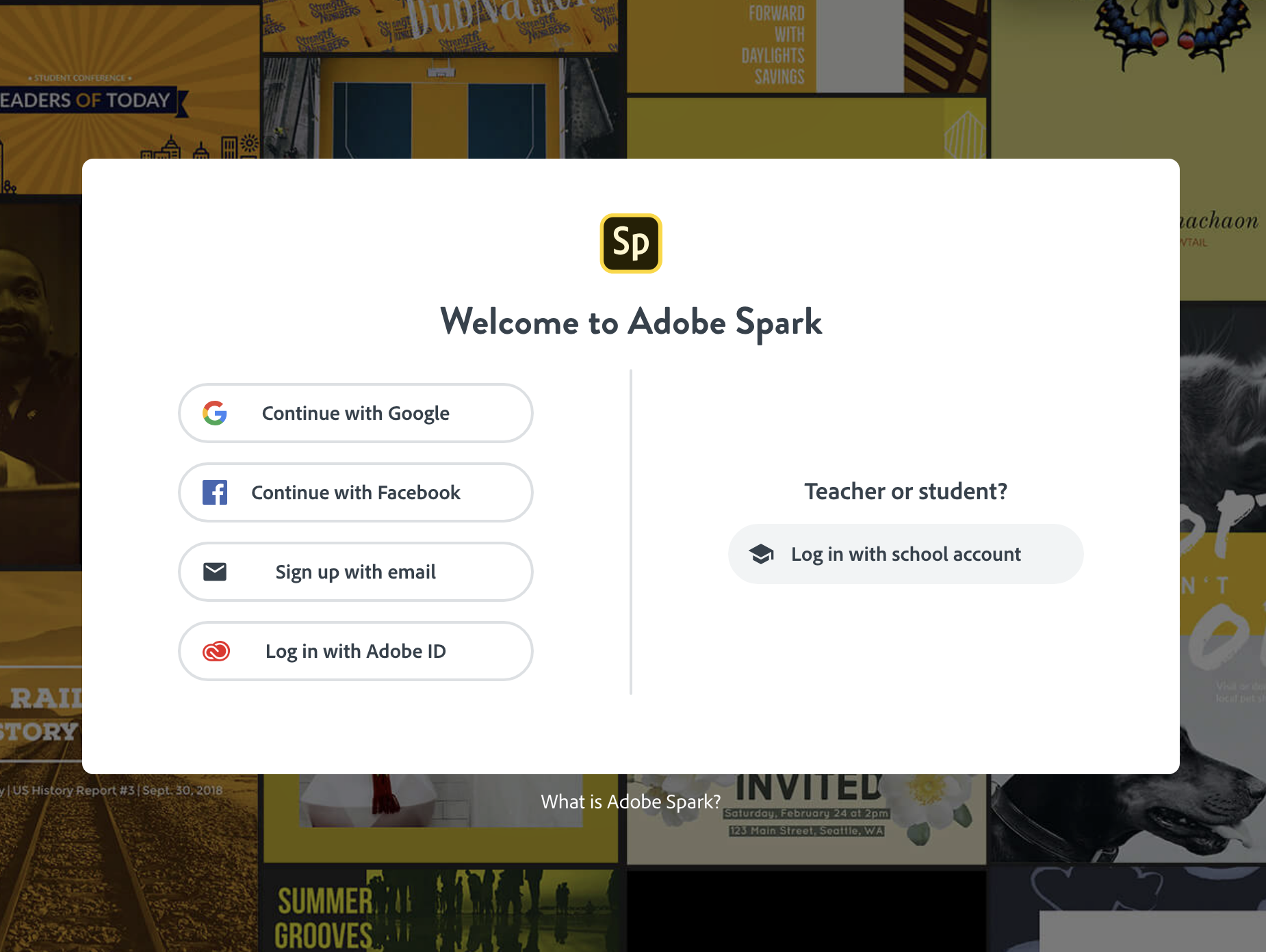 Creating a Free Adobe Spark Account | Media Commons