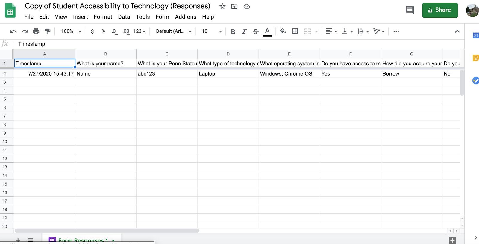 Office 365 Spreadsheet
